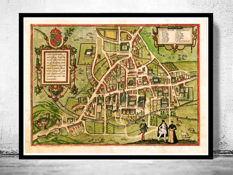 Old,Map,of,Cambridge,1572,England,Vintage,cambridge map, map of cambridge, cambridge poster, cambridge uk, old maps,vintage maps, antique map,cyprus poster, antique print