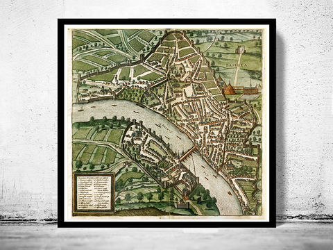 Old,Map,of,Basel,,Switzerland,Basilea,1575,Art,Reproduction,Open_Edition,city,vintage,Braun,medieval,Basel,basilea,basel_map,vintage_map,old_map,medieval_basel,basel_switzerland,basel_poster