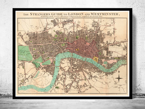 Old,London,and,Westminster,Map,1806,victorian london, london maps sale, map reproduction, old maps for sale, london map, map of london, london poster, Art,Reproduction,Open_Edition,city,vintage,illustration,gravure,vintage_map,city_plan,england,united_kingdom,london,old_map,engraving