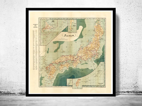 Vintage,Map,of,Japan,1913,Art,Reproduction,Open_Edition,vintage,japan_sea,japan,tokyo,old_map,vintage_map,japan_map,map_of_japan,japan_decor,japanese,japan_art,japan_poster,asia