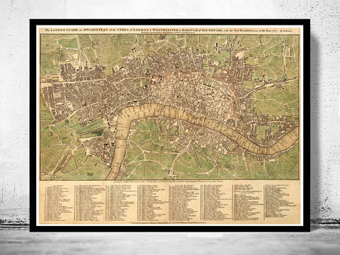 Old,London,and,Westminster,Map,1767,victorian london, london maps sale, map reproduction, old maps for sale, london map, map of london, london poster, Art,Reproduction,Open_Edition,city,vintage,illustration,gravure,vintage_map,city_plan,england,united_kingdom,london,old_map,engraving