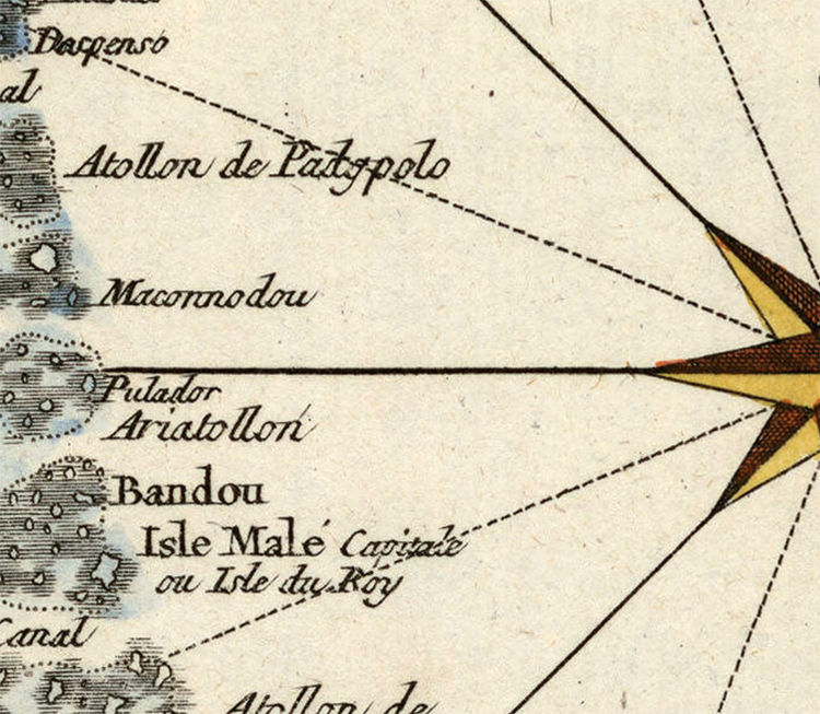 Old Map of Maldives Islands 1750 - product image