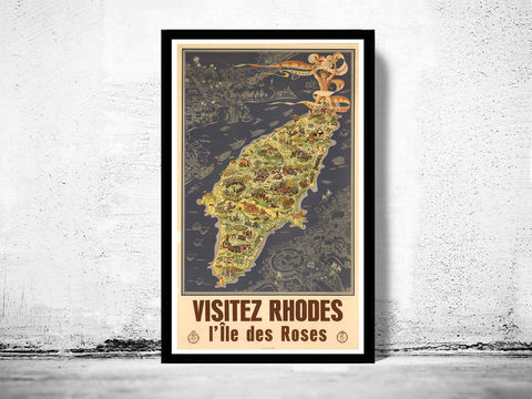 Vintage,Poster,of,Rhodes,Island,Greece,Art,Reproduction,Open_Edition,vintage_poster,travel_poster,oldcityprints,vintage_retro,greece,grece,greece_poster,greece_vintage,greece_travel,greece_tourism,greek,greek_decor