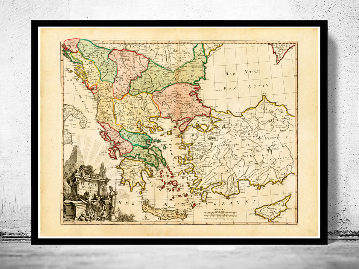 Old Map of Turkey 1760 Vintage map - product images  of