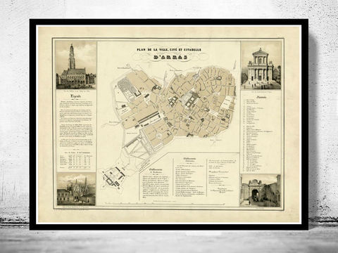 Old,Map,of,Arras,France,1894,Vintage,arras france, mappe of arras, arras map , map of arras, arras poster, antique arras