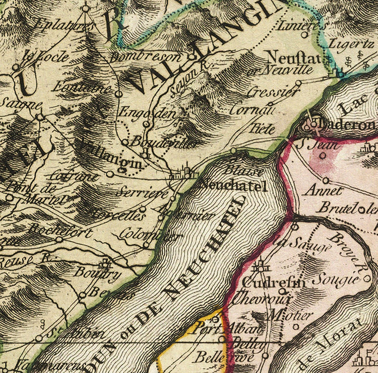 Old Map of Switzerland Antique Schweiz 1778 - product image
