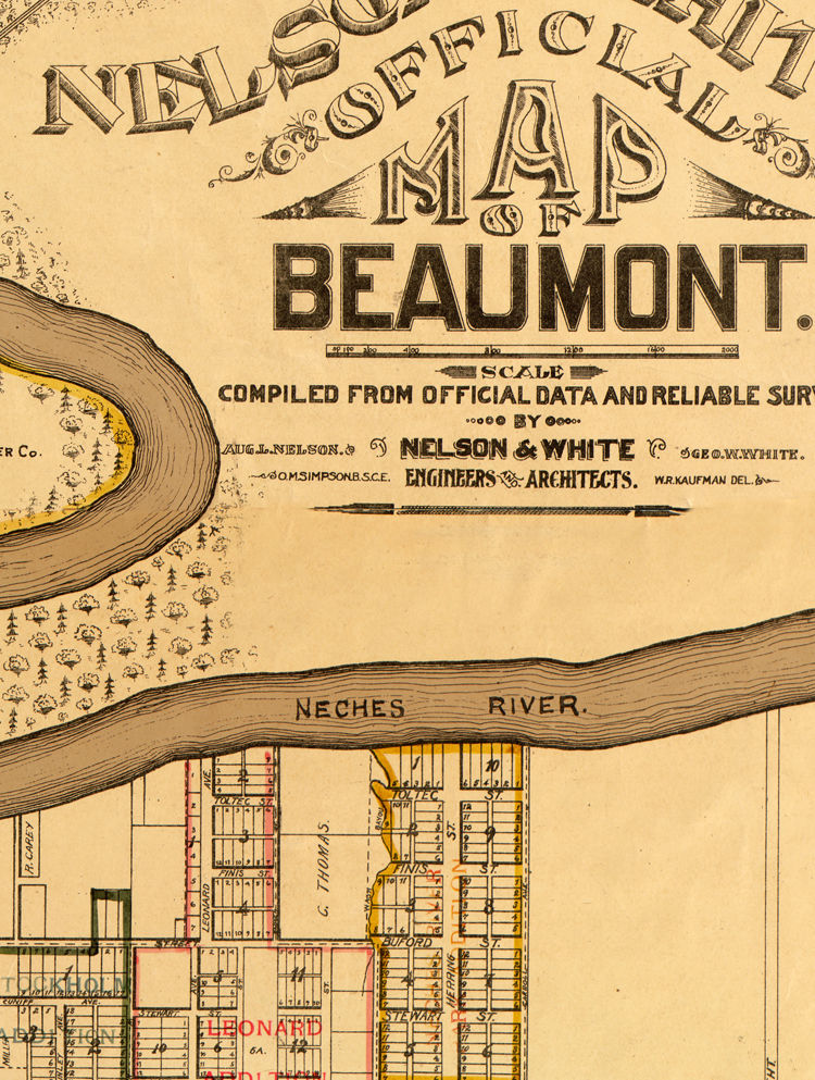 Old map of Beaumont 1902 Texas - product images  of