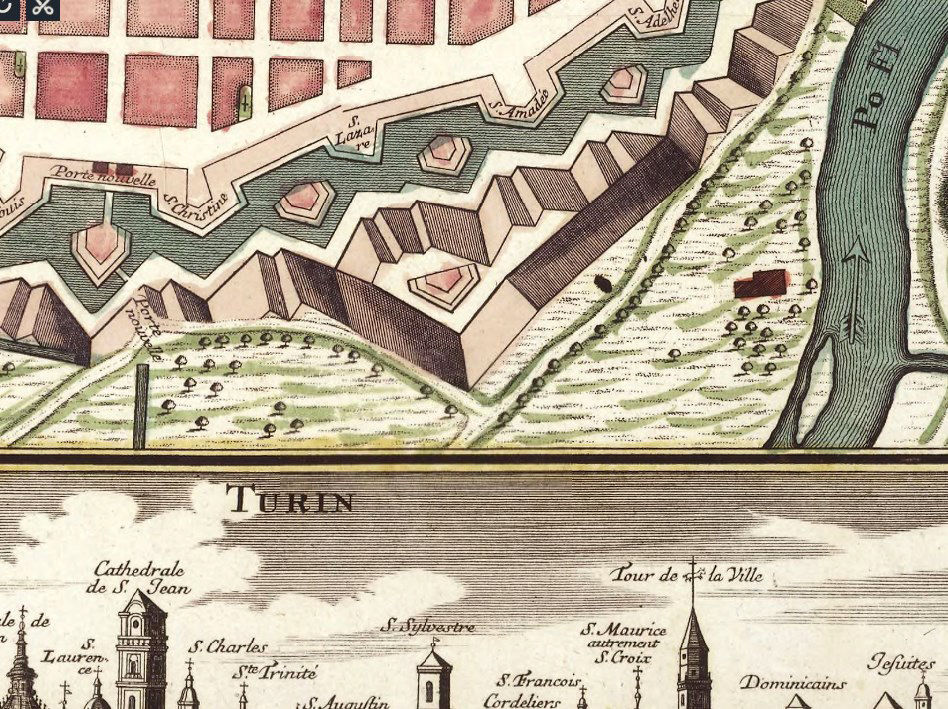 Old Map of Turin Torino Italy 1750 - product images  of