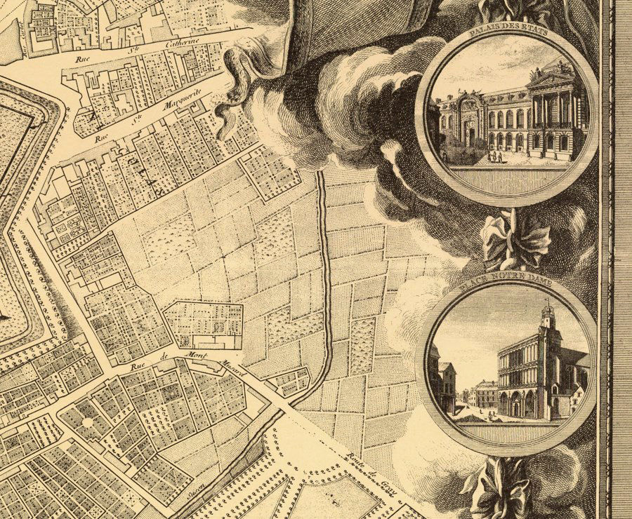 Old Map of Dijon 1759 - product images  of