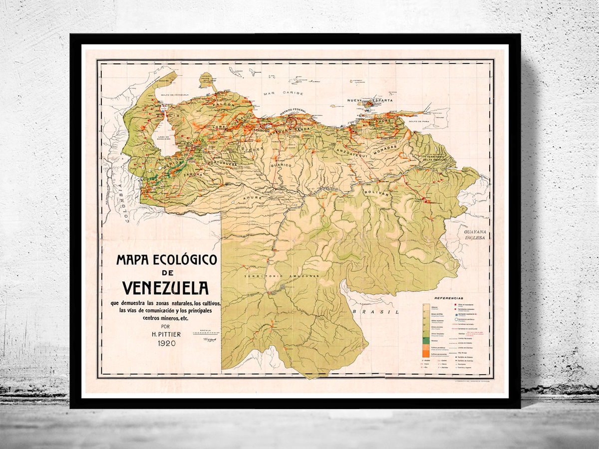 Old Map of Venezuela 1920 - product images  of