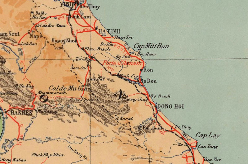 Old Map of Indochina 1937   - product image