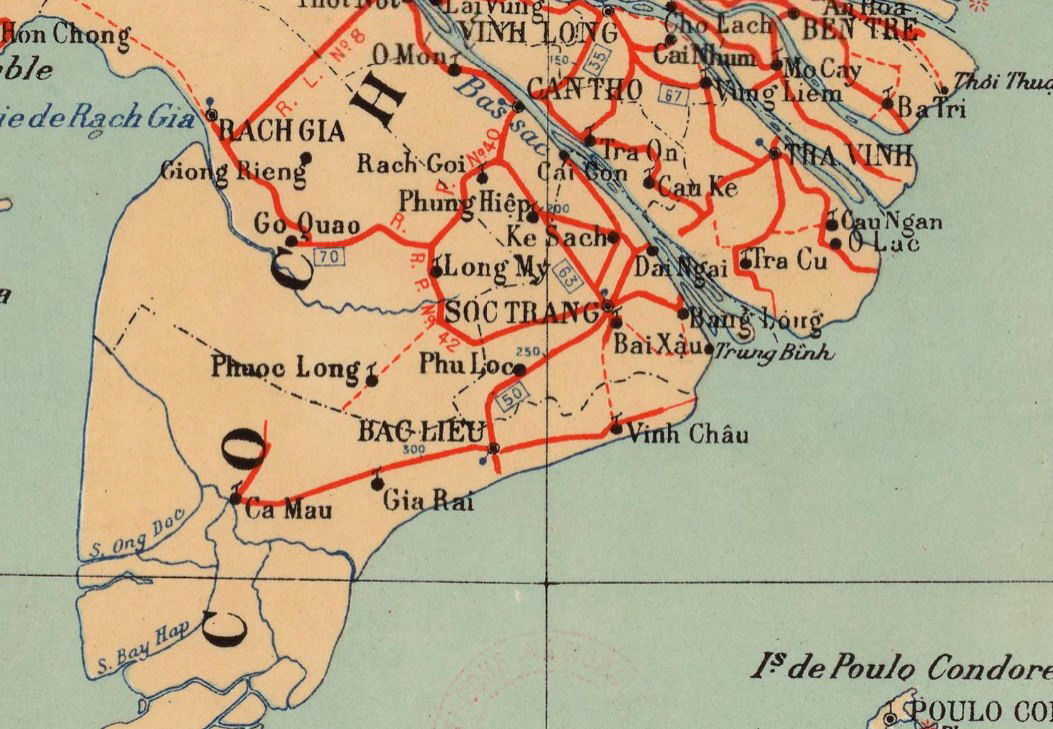 Old Map of Indochina 1937   - product images  of