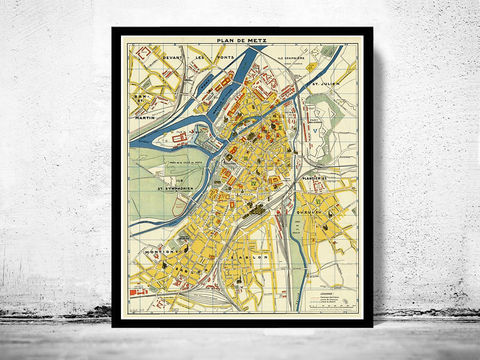 Old,Map,of,Metz,France,1936,Art,Reproduction,Open_Edition,vintage,gravure,vintage_map,french art, maps for sale, buy map, metz, metz france, map of metz, metz map, metz poster,france_map, , old maps for sale, maps repr