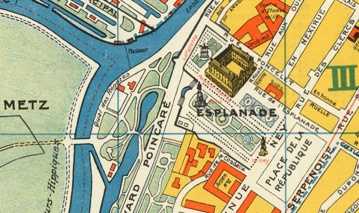 Old Map of Metz France 1936 - product images  of
