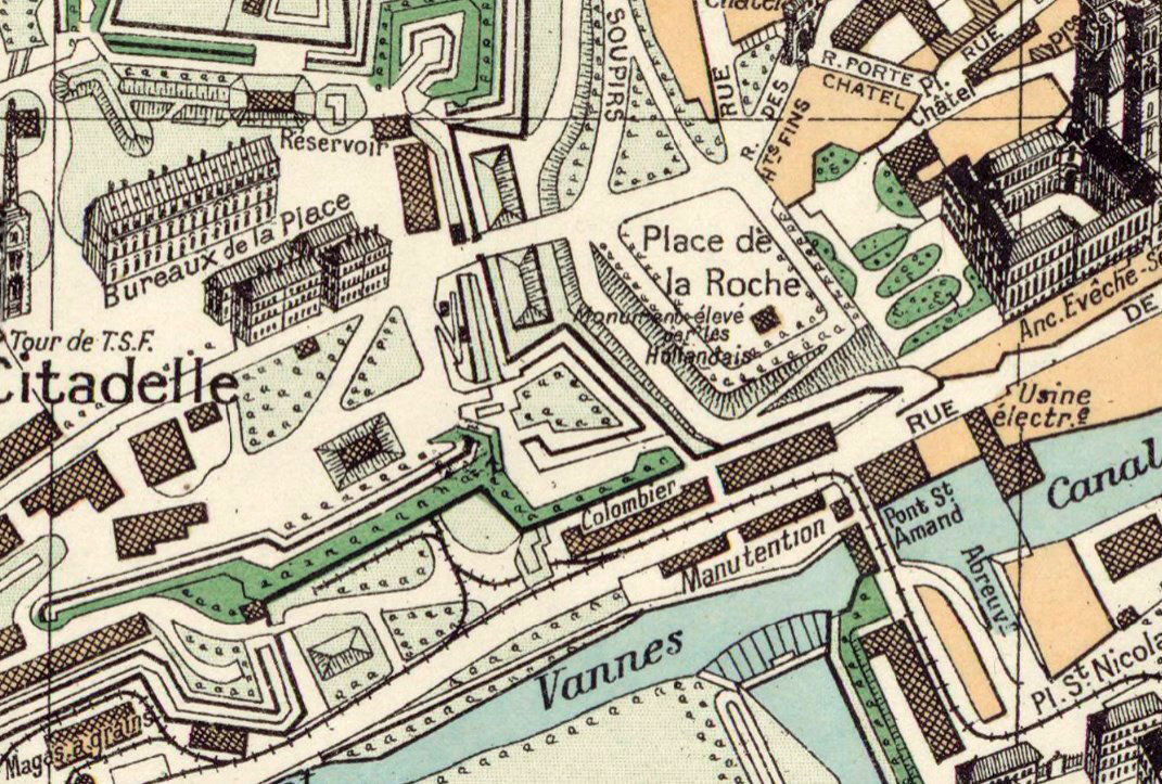 Old Map of Verdun France 1924 - product images  of