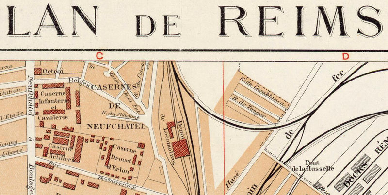 Old Map of Reims France 1926 - product image