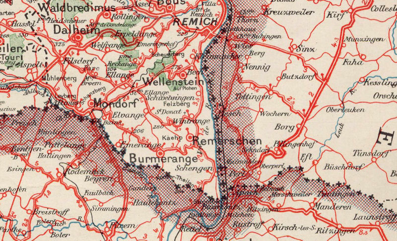 Old Map of Luxemburg Luxembourg 1929 - product image