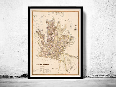 Old,Map,of,Sydney,Australia,1895,Vintage,Art,Reproduction,Open_Edition,vintage,sydney,new_south_wales,city_map,old_map,vintage__map,map_of_sydney,sydney_map,oceania,old_map_sydney,sydney_vintage,sydney_harbour