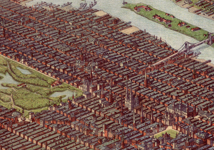 Vintage New York Panoramic View 1900 - product image