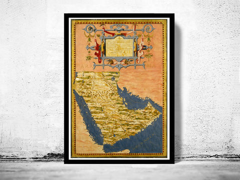 Old,Map,of,Middle,East,Arabian,Peninsula,1565,Art,Reproduction,Open_Edition,old_map,atlas,illustration,antique_map,vintage_map,Iraq,Syria,Saudi_Arabia,Iran,Yemen,middle_east_map,arabia_map