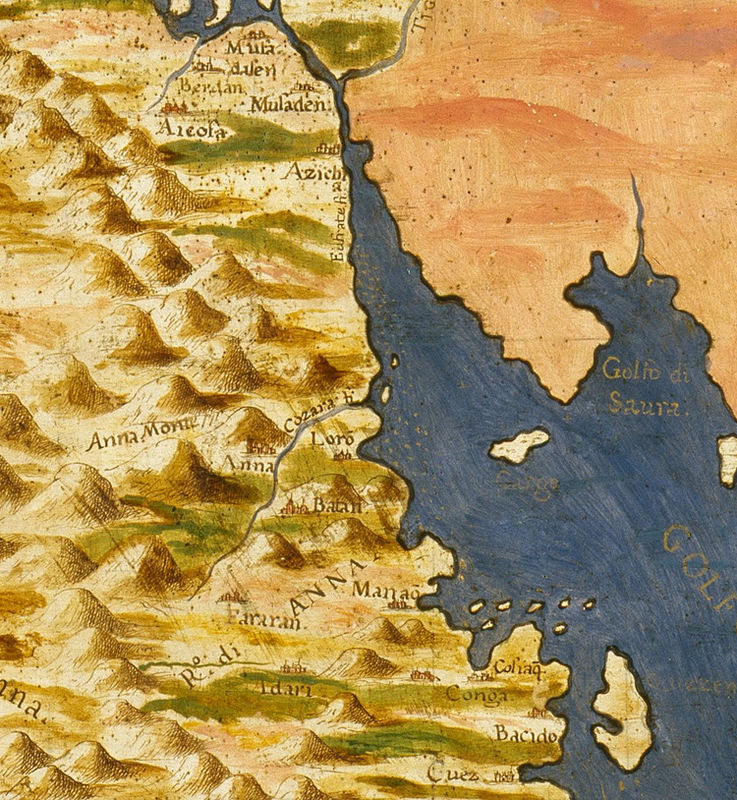 Old Map of Middle East Arabian Peninsula 1565 - product image