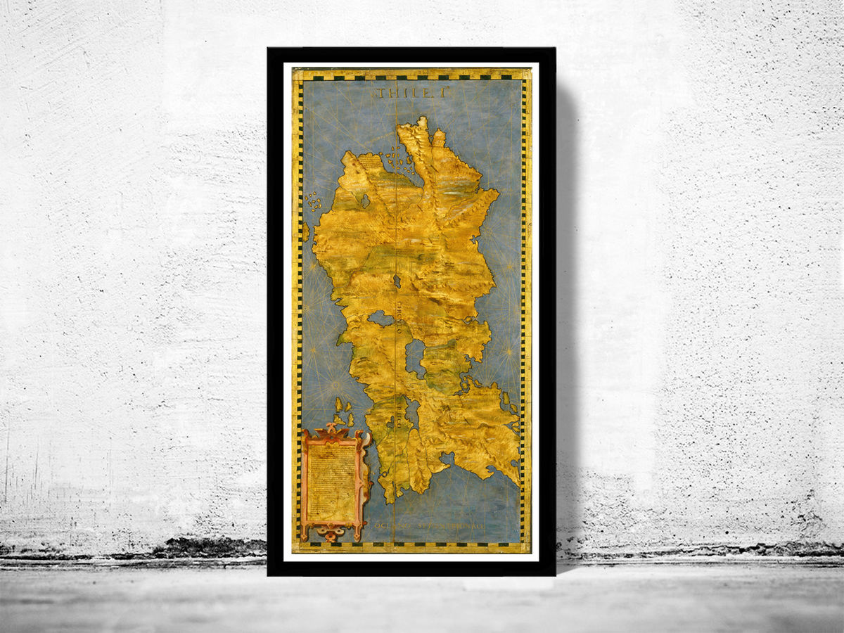 Old Map of Iceland Islandia 1565 - product images  of