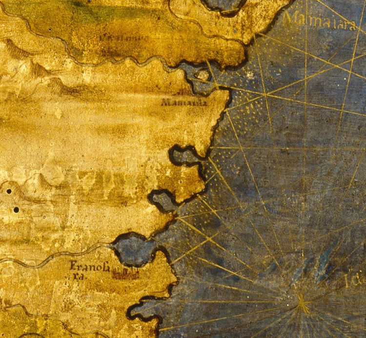 Old Map of Madagascar 1565 - product image