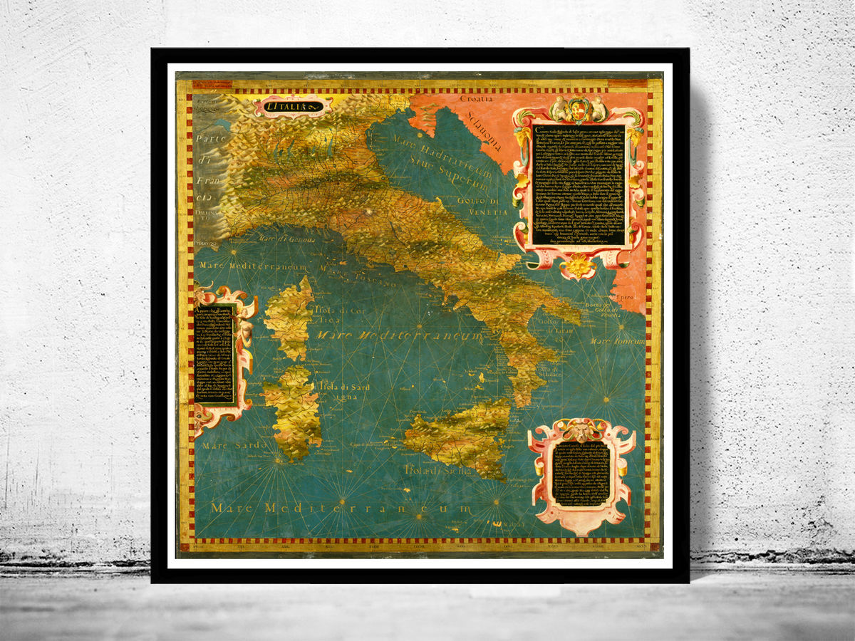 Old Map of Italy 1578 Italia - product images  of