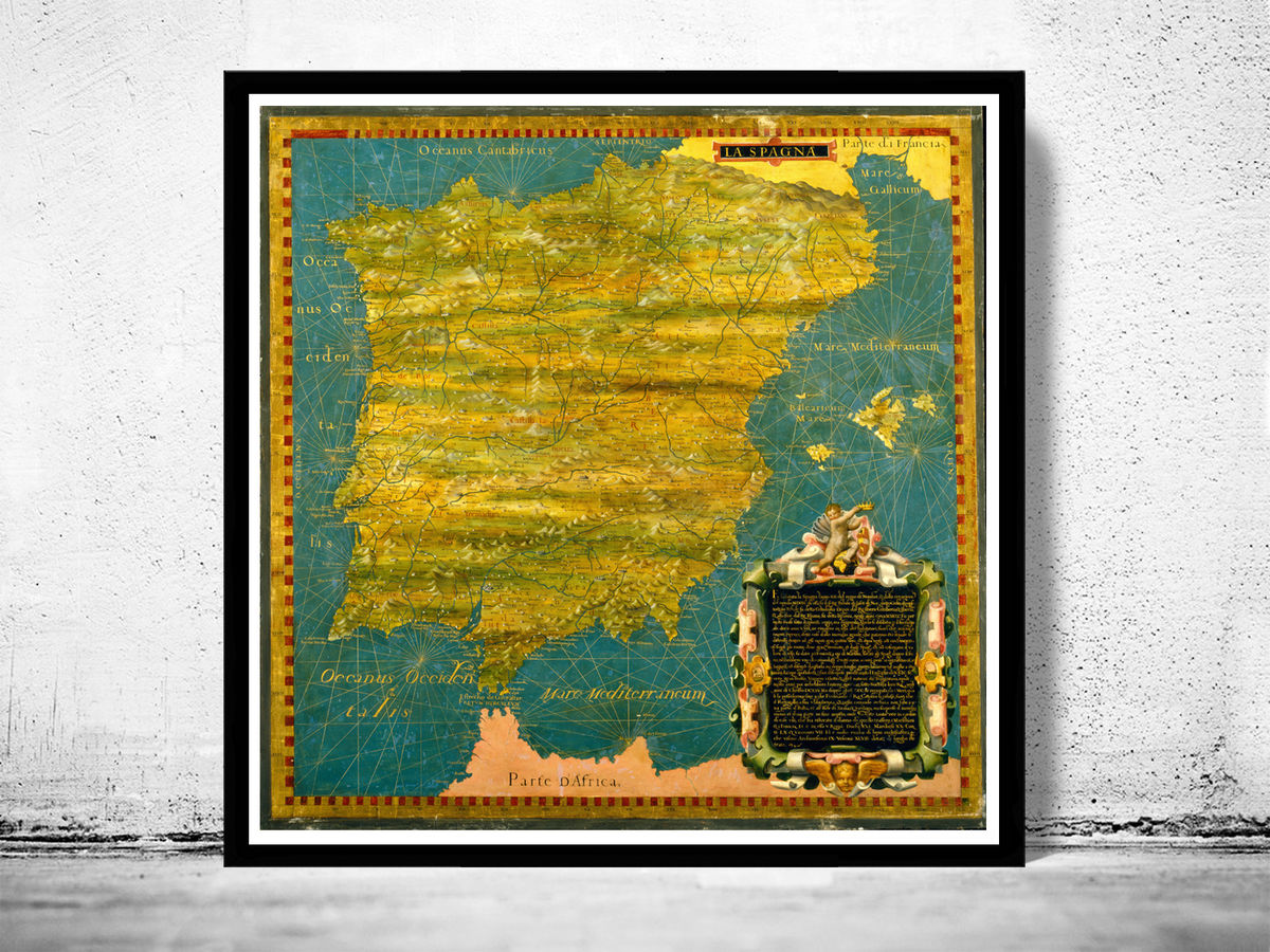 Old Map of Spain 1577 - product images  of