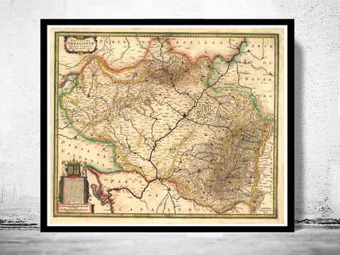 Old,Map,of,Aragon,Aragó,Kingdom,1639,Spain,aragon, aragon map,aragon spain, aragó, aragon kingdom, reino, aragon poster, espana aragon, old map, vintage map, vintage poster,old map of oviedo, aragon espanha, antique map