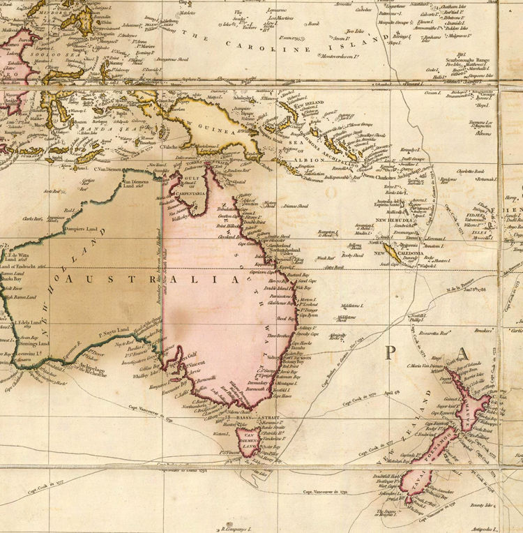 Great Vintage World Map in 1819 - product image