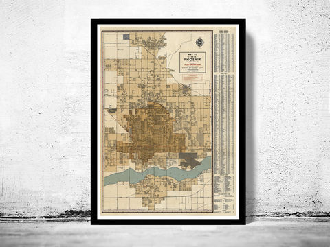 Old,map,of,Phoenix,Arizona,panoramic view  , birdseye , vintage map  , old map  , phoenix poster, phoenix, phoenix arizona, phoenix map, map of phoenix, phoenix vintage, phoenix gift, old map of phoenix