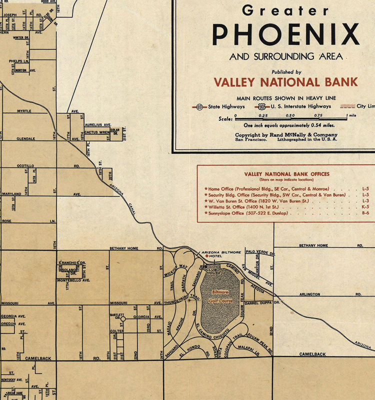 Old map of Phoenix Arizona - product images  of