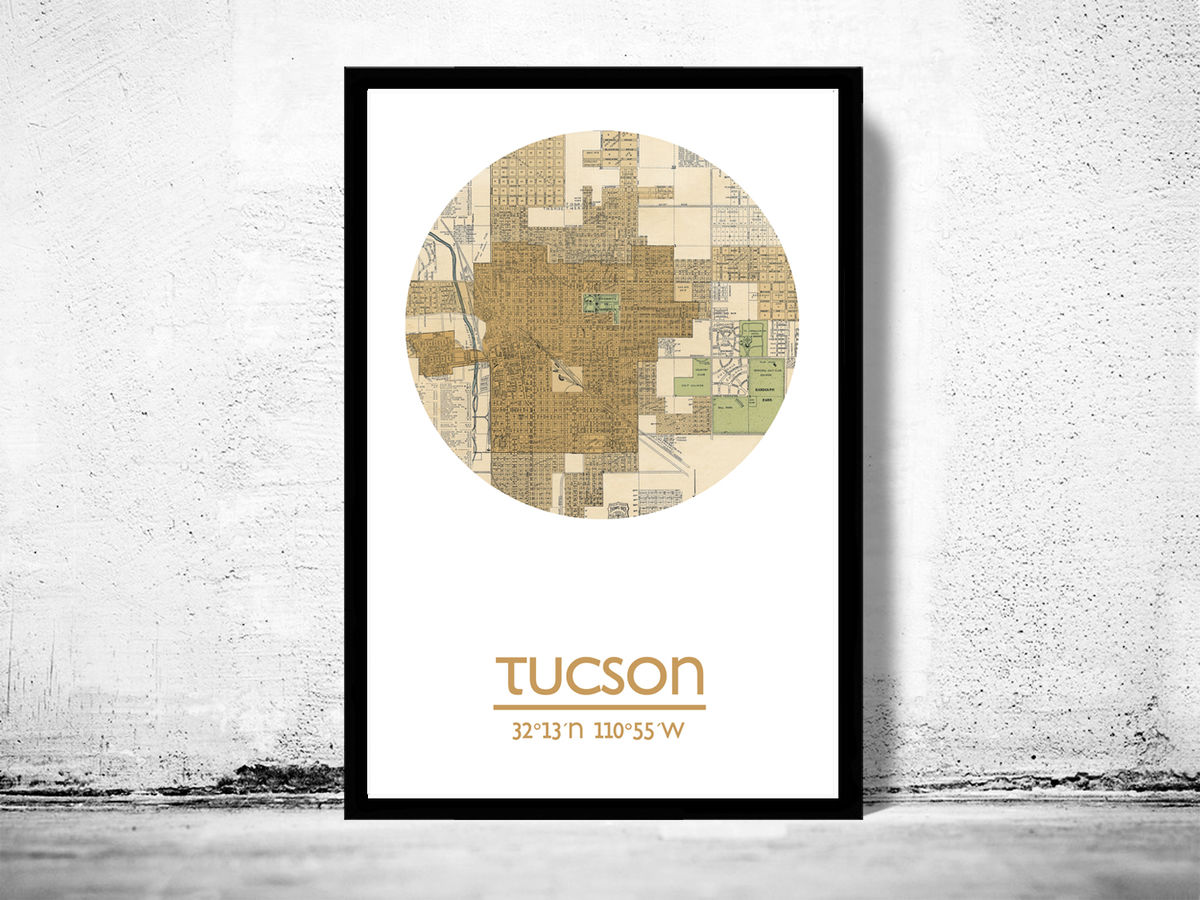 TUCSON - city poster - city map poster print - product images  of