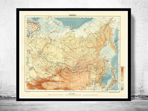 Old country maps collection old maps and vintage prints oldmapofsiberia1918siberia print old map of gumiabroncs Gallery