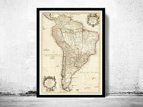Old,Map,South,America,Brasil,Venezuela,Peru,Argentina,Chile,1708,Art,Reproduction,Open_Edition,old_map,atlas,south_america,america_meridional,brasil,argentina,chile,venezuela,panama,peru,paraguay,antique_map,antique_map_america