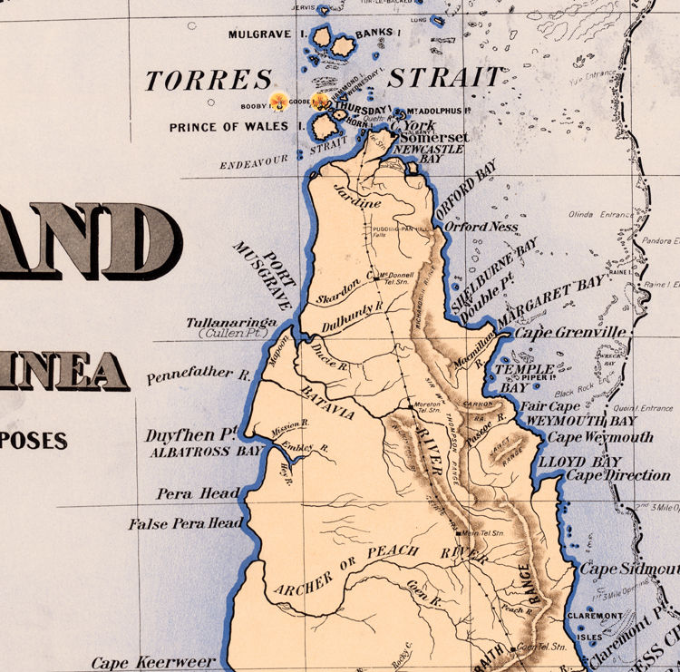Old Map of Queensland Australia 1896 - product image