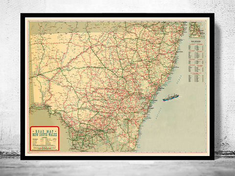 New,South,Wales,Old,map,Australia,, old map  , antique map  , historic map   , new south wales map  , new south wales, antique south wales  , south wales poster , antique map wales  , australia map  , old maps for sale, maps reproductions