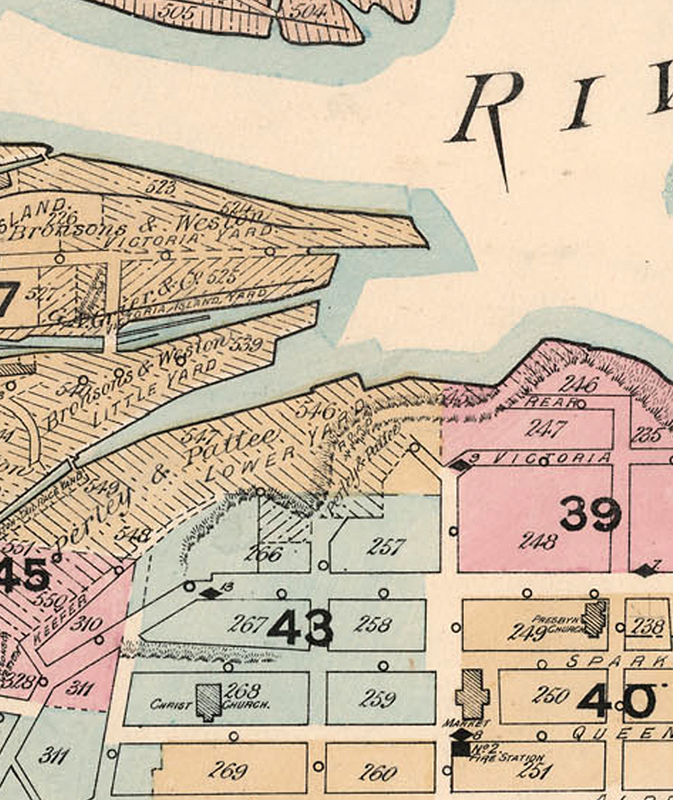 Old Map of Ottawa Canada 1888 - product image