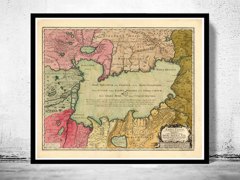 Old,Map,of,Caspian,Sea,1750,caspian sea, caspian sea map, mar caspio, mare caspium, old map of caspian sea, caspian sea poster