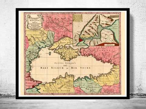 Old,Map,of,Black,Sea,1750,Crimea,crimea old map, black sea map, black sea, crimea map, old map of black sea, black sea poster