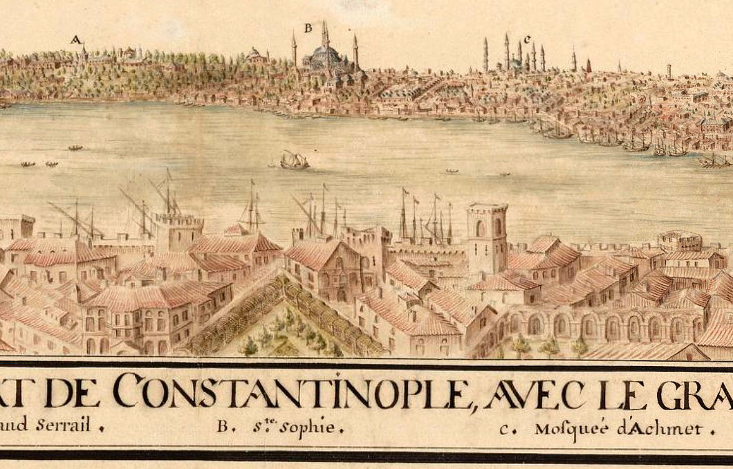 Old Constantinople Istanbul Panoramic View 1686 - product images  of