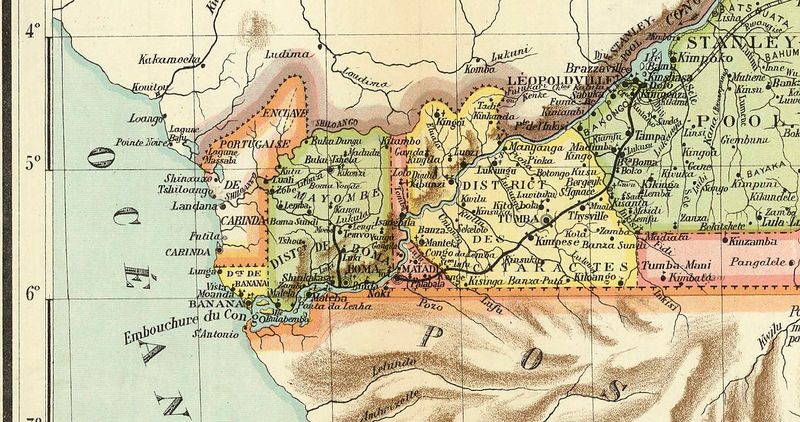 Old Map of Congo Africa 1910 - product image