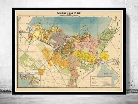 Old,Map,of,Tallinn,Estonia,Tallinn Estonia,Tallinn map, old map of Tallinn, Tallinn old map, Tallinn poster