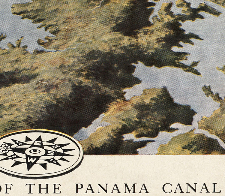 Vintage Map of Panama Canal Zone  1912 - product images  of