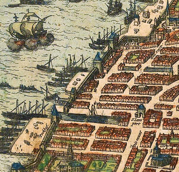 Old Map of Antwerpen Belgium 1572 Anvers  - product images  of