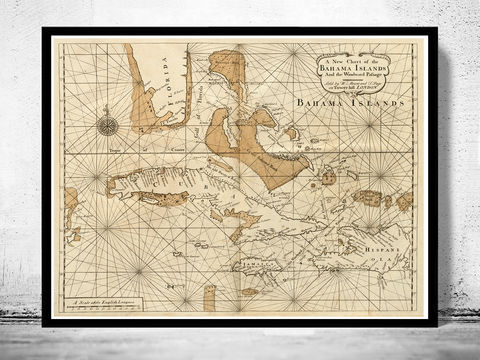 Old,Map,of,Bahamas,,Bahama,Islands,1737,bahamas, bahama islands, bahamas map, caribbean map, caribbe