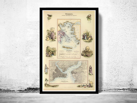 Old,Map,of,Turkey,1872,Vintage,map,turkey map, map of turkey , turkey poster, turkish art, vintage map, old map, antique map, maps and prints