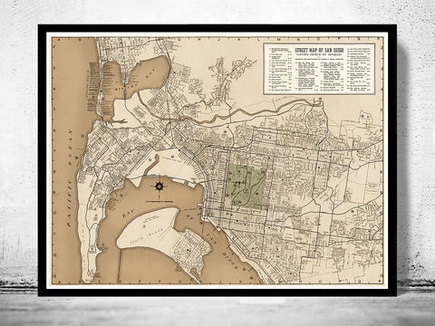 Old,map,San,Diego,California,1935,san diego, san diego california, san diego map, map of san diego,  map of san diego, map, poster, san diego poster