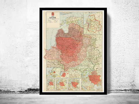 Old,Map,of,Lithuania,1920,lithuania, lithuania map, map of lithuania, lithuania old map, lithuania poster, old map of lithuania